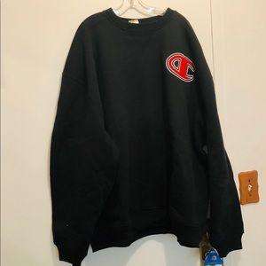 Champion Super Crew Sweatshirt-Black-4XL
